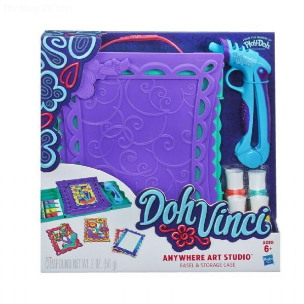 Hasbro Play Doh dohVinci Anywhere Art Studio With Storage Case A7198